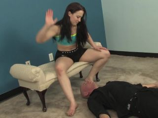 Brutal face slapping and foot slapping. Cheyenne makes Dante kneel on ...