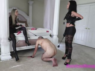"""THE MEAN GIRLS: """"I OFFER MY SLAVE TO YOU"""" (1080 HD) (WHIPPING, CANING)"""