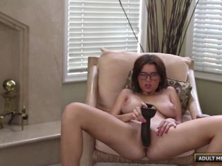 Marina loves to fuck her pussy with a big toy