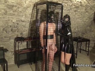 Fetish Liza in Ruined Orgasm for My Latex Slave