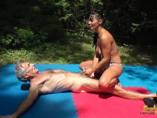 1033 Sandra Romain - Young Amazon Dominates Old Man