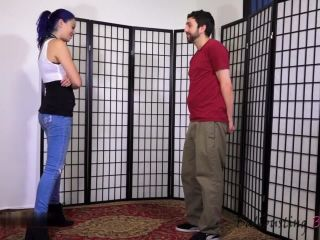 Ball Busting Beauties – Luna Leigh's First Time Ballbusting. Starring Luna and Jay