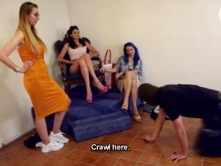 Czech Soles Slave Beating Ball Busting And Footdom By 3 Foot Girls Starring Blue Kate Daniela And Lexi Foot Domination