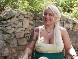 Busty Blonde Candela X Submits In Biker Bar