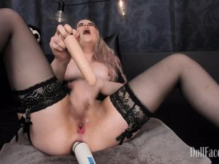 big dildos - ManyVids presents DollFaceMonica in Kinkiest Hitachi First Try (Premium user request)