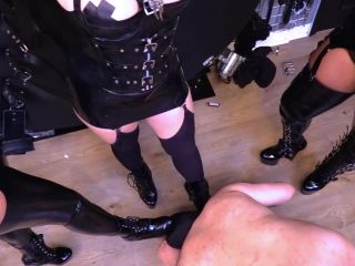 Mistress Tess — A Very Busy Ashtray — Smoking — Double Domination, Bootlicking