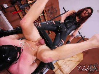Clubdom – Miss Roper's Dungeon Slave: Strap On Fucked, femdom forced sissy on bdsm porn