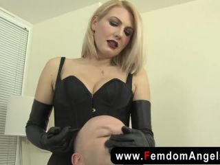 femdom spitting and hard faceslapping session