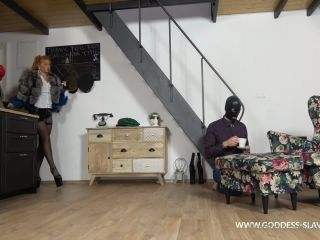 Goddess Slavena – One Slave Is Serving Me A Cup Of Tea And Next One Lick My Feet In Nylons