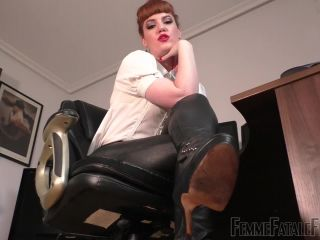 Femme Fatale Films- Office Foot Slave – Complete Film. Starring Miss Zoe  - foot domination - femdom porn fetish dating sites