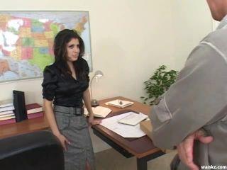 Wankz.com- Sativa Rose And Scott Hancock Screw Around In The Office