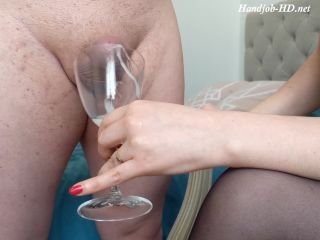 Balls Emptying Day! Unlocked from his Chastity Cage after 5 Days, Fractional Ruined Handjob and Cum-Eating