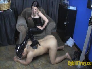 Boot Domination – Cybill Troy FemDom Anti-Sex League – Blow My Boots
