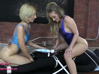 bratprincess  alexa and harley  two girls torturously tease restrained slave  fucking
