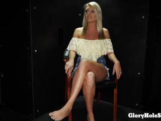 Online video Victoria Steffani (Victoria S's First Gloryhole Video) interracial