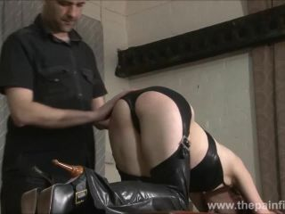 Kinky leather slave fae corbins amar bdsm and hot wax punishment and sub
