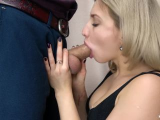 Secretary Suck Big Cock and Swallows Cum - Kriss Kiss