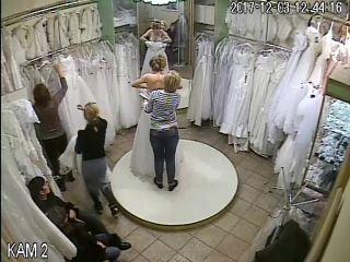 Wedding dress fitting 1