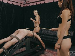 [Femdom 2018] CRUEL PUNISHMENTS  SEVERE FEMDOM  Used by two Mistresses  Part 3. Starring Mistress Nina and Mistress Anette [Caning, Corporal Punishment, Cane]