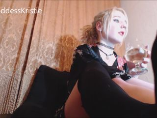 Ignored – Goddess Kristie – ignoring my stupid slave at my feet