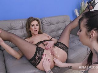 Sexy MILF Julia North gets rough anal fisting during DAP and triple fuck
