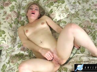 Sexy mom fucks sy with big dildo till she