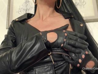 Kinky Leather Clips - Sensual Leather Biker Dress JOI [HD 720P] - Screenshot 5
