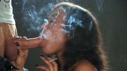 Alyssa Divine all white 120s smoking sex