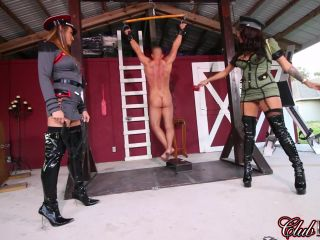 Cruel & Unusual FemDom  Caught by the Guardesses Part 1  Whipping  Starring Guardesses Paris and Jamie