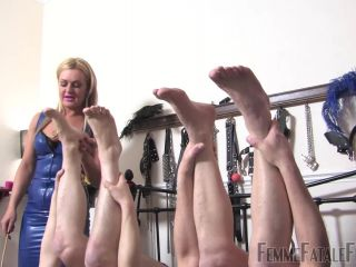 Mistress R'eal – Femme Fatale Films – Bastinado Ball Busting Bitches – Complete Film – Mistress R'eal and Mistress Athena