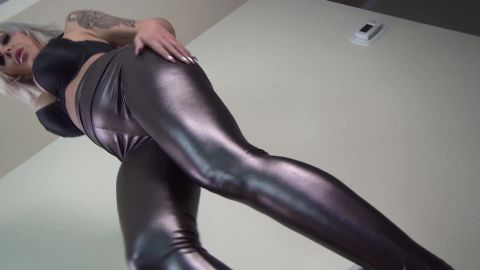 Goddess Nina Elle - Shiny Pants Never Let You Down (1080p)