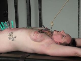Racked amar slave in hardcore bdsm and nipple tortured tattooed submis ...