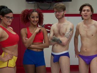 [KinkTestShoots  Kink] Daisy Ducati, Penny Barber, Patrick Knight and Garett Nova  Competitive Mixed wrestling Tag Team Match up (KTS-35049)
