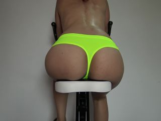 SweetBunnyxxx - Half Naked Bicycle Workout Teen Teasing With Amazing R ...