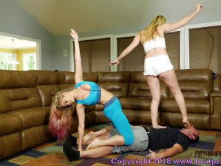 Foot sniffing – Brat Princess 2 – Princess Anabelle, Princess Chloe – Sweaty Gym Brat Trample and Facesit