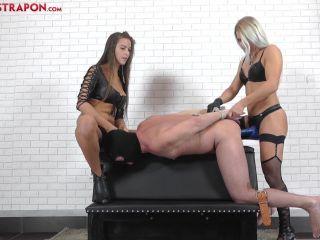 Humiliation – CRUEL MISTRESSES – Penetrated – Mistress Zita and Mistress Amanda