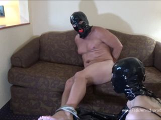 Bound gagged and milked by a latex mistress – Fetishmindsproductions – Garnet Rose
