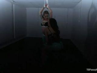 Cute shemale Venus Lux fucks hot girl Bella Wilde