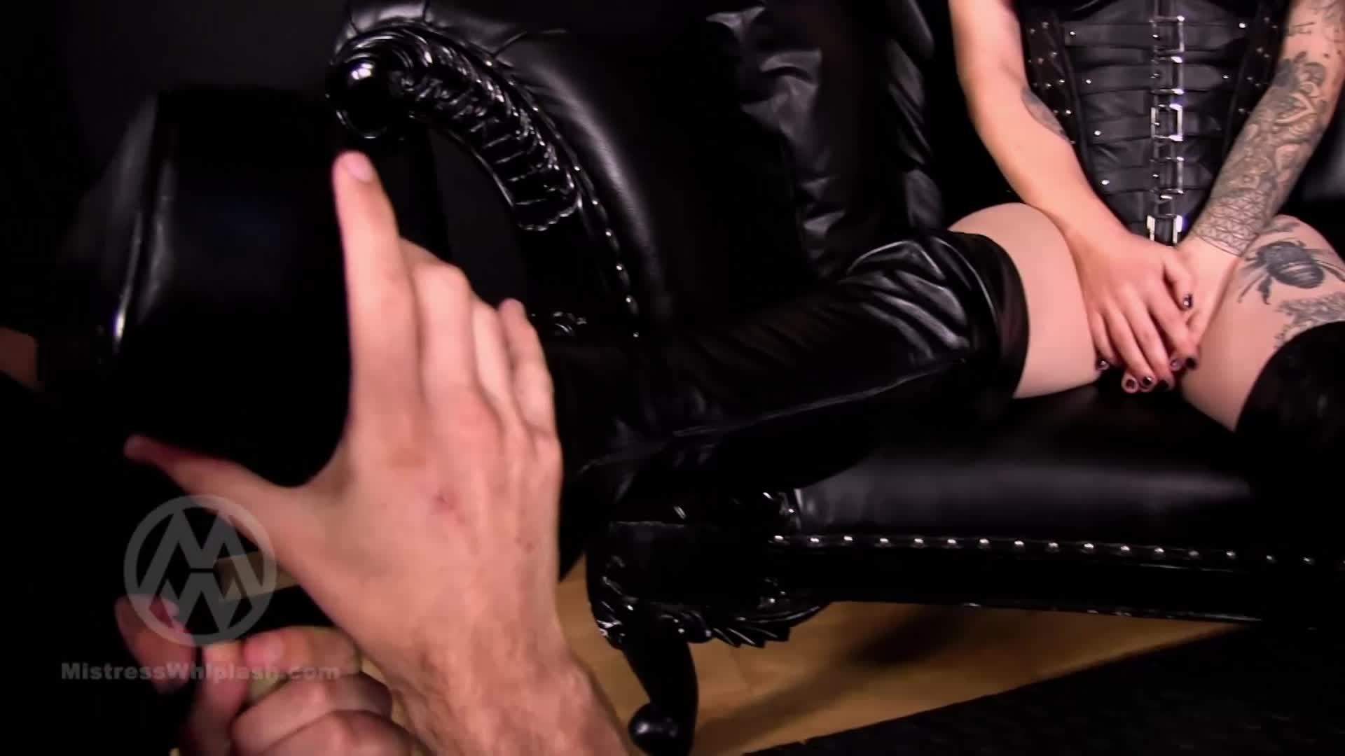 Mistress Teases Lesbian Slave