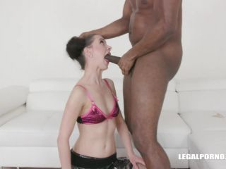 LegalPorno presents First anal first black cock for Lola Black IV299 —