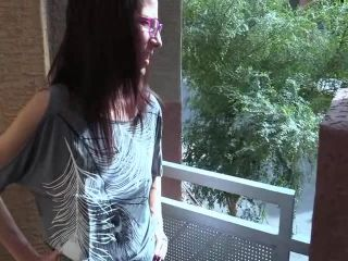 Online Tube Wife Crazy Clip Store presents Outdoor Blowjob and Facial in Glasses - handjob and footjob