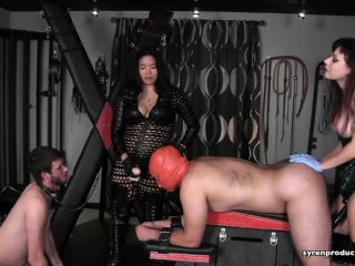 Asian – Atlanta Dungeon – Spit Roast Fiesta Part 1 – Mistress Ultra Violet and Mistress Alexis Kim