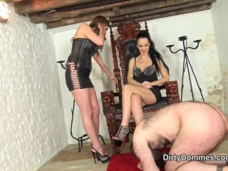 High Heels – Dirty Dommes – Our Louboutin licker part 1 – Nikki Whiplash and Fetish Liza