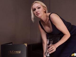 DownBlouse Jerk – Wanking waitress – Busty, Jerk Off Encouragement on fetish porn blonde anal sex videos