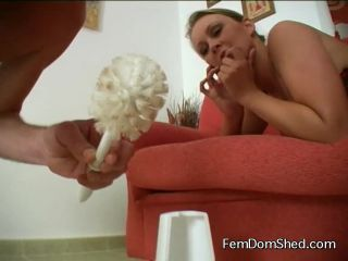 Princess Amber Punishment for not keeping the toilet brush clean
