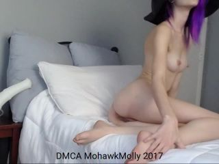 mohawk molly best orgasm ever with large horse cock