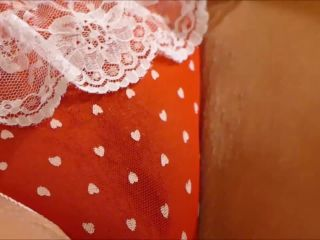 Natalie K - feet fetish & masturbation in red tights