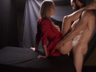Charming Lady In Red Takes That Cock With Such Pleasure - Full Video