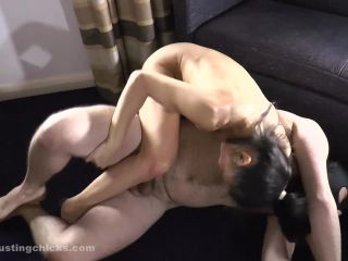 Naked Wrestling and CBT (Aya)