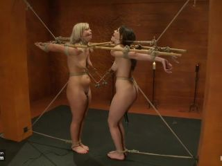 Tara n dana bondage with nipple clamps n vibrators